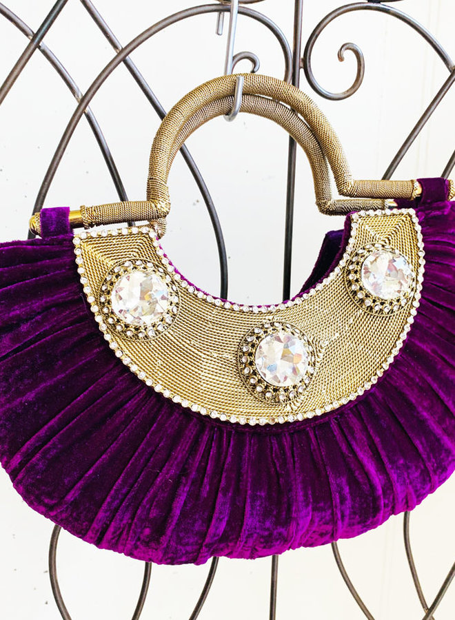 Clutch,  Abendtasche in Violett