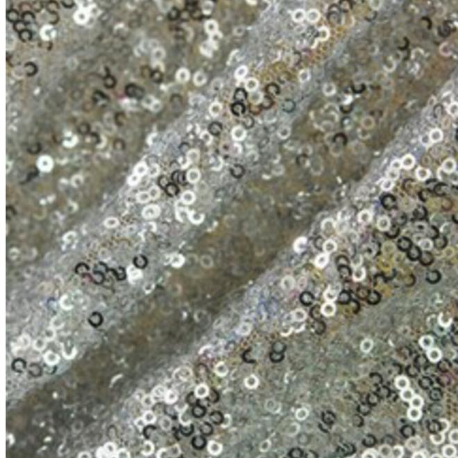 Paillettenstoff Silber