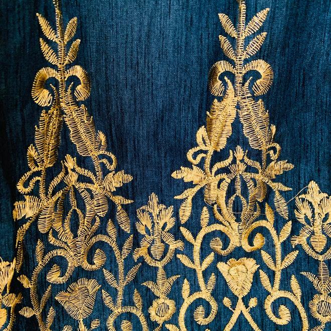 Lehenga Choli in Schwarz und Gold