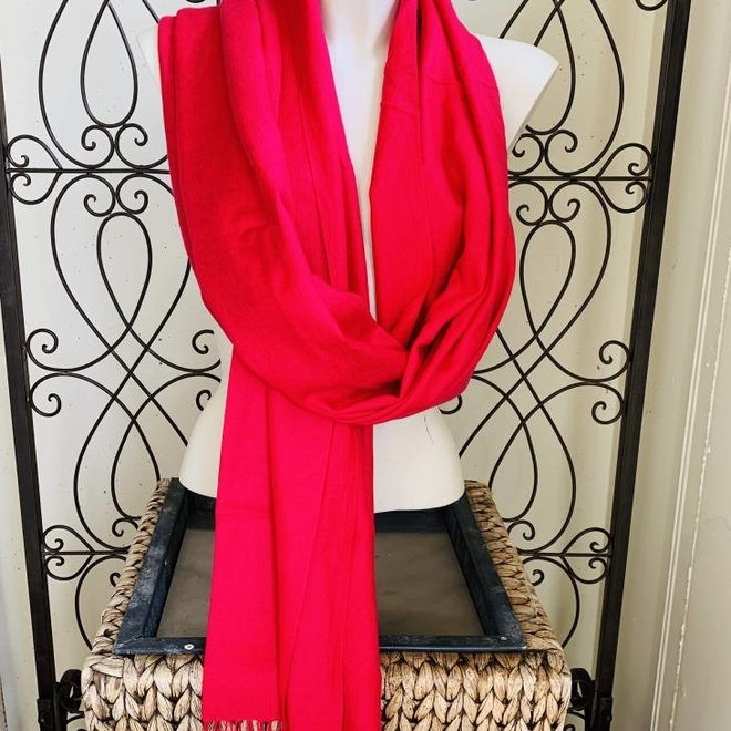 Pashmina (Cashmere, Wolle) in Rot