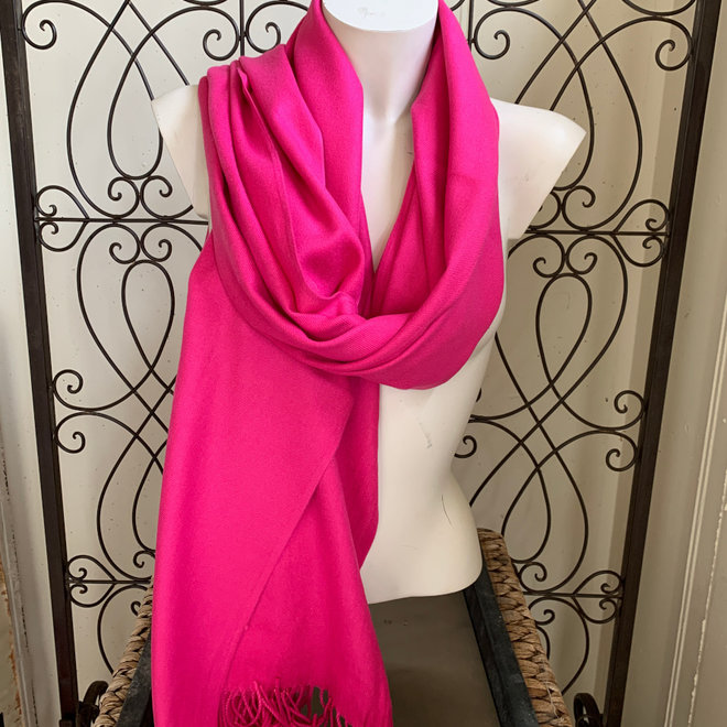 Pashmina (Cashmere, Wolle) in Pink