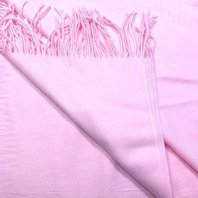Pashmina (Wolle) in Rosé