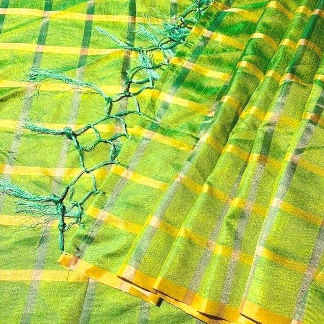 Indische Dupatta in Apfelgrün