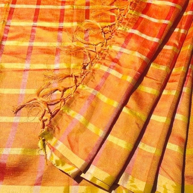 Indische Dupatta in Orange