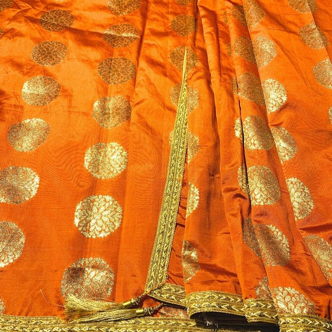 Indische Dupatta in Terracotta