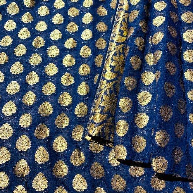 Indischer Schal in Blau