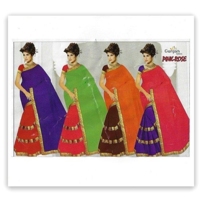 Sari Chiffon in 2 Farben