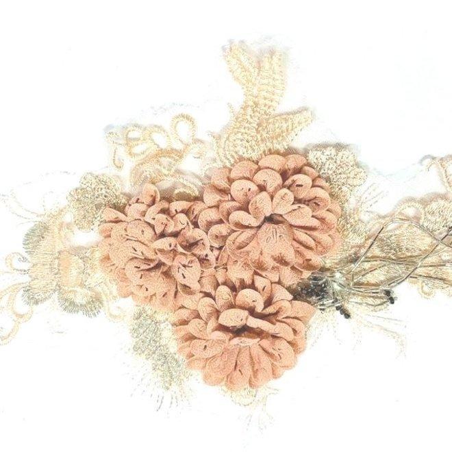 Spitzenapplikation in Rosa 3D