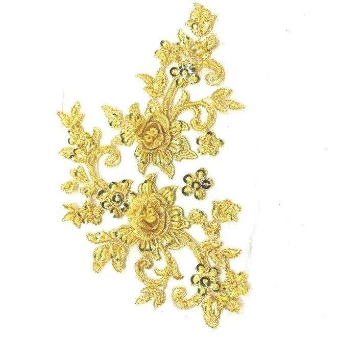 Spitzenapplikation in Gold 3D