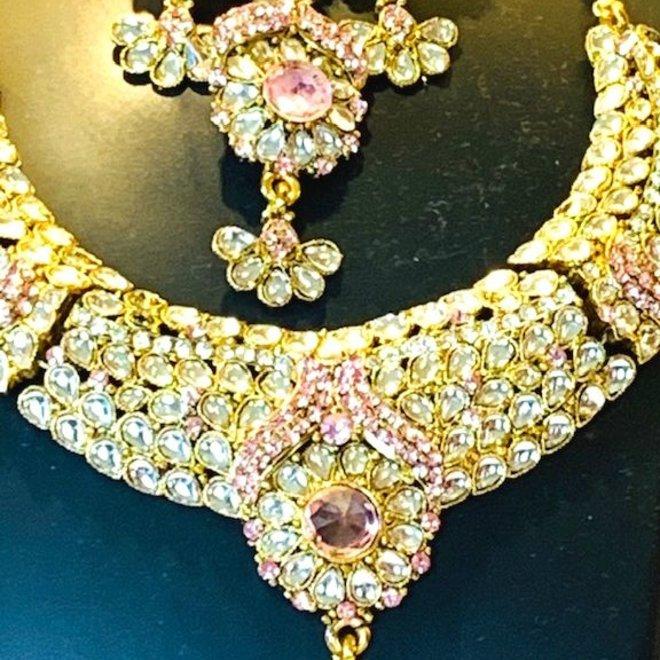 Indisches Schmuckset in Gold-Rosé (Fehlerware)