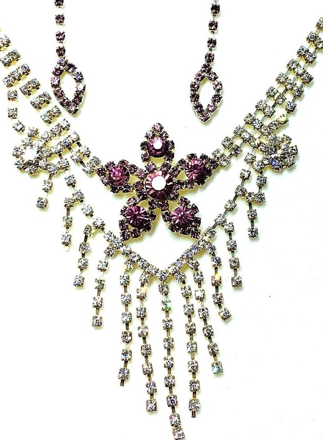 Schmuckset Silber Violett