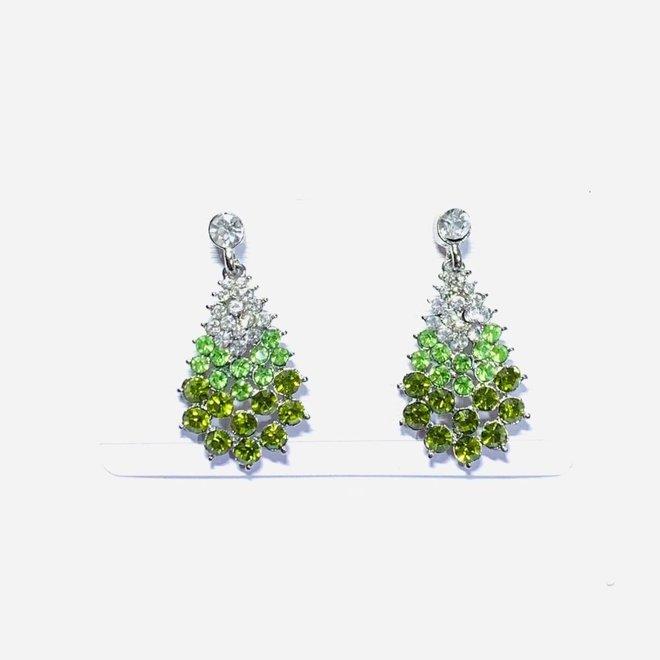 Kristall Ohrringe grün