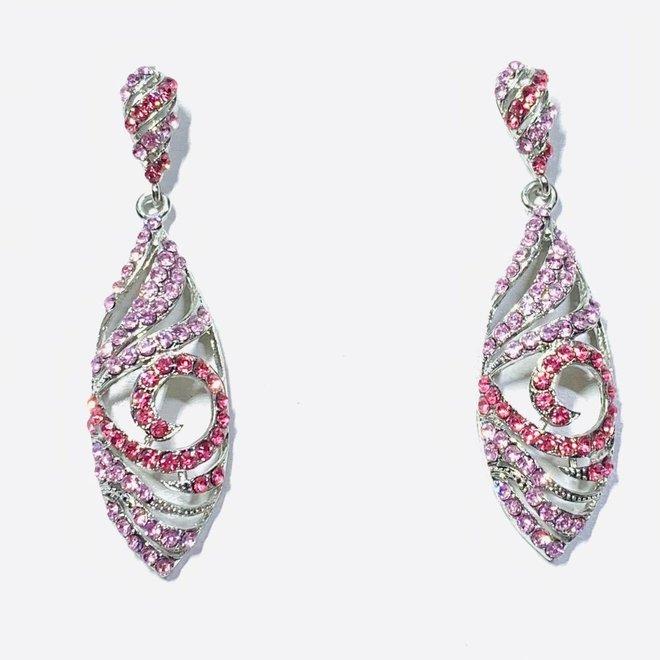 Kristall Ohrringe rosa