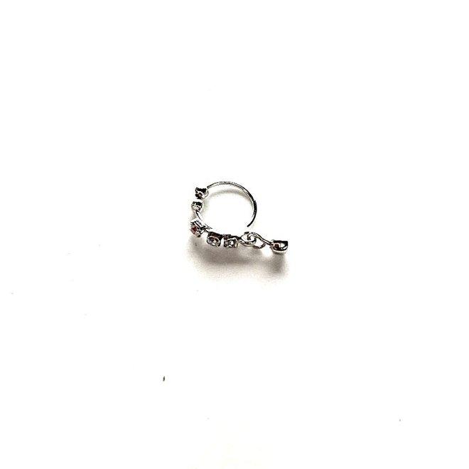 Nasenschmuck, Nasenpin ohne Piercing (Silber)