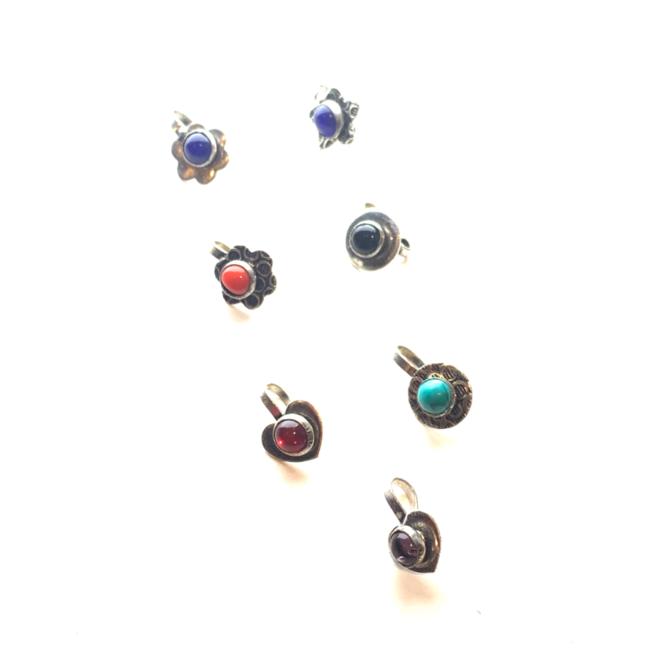 Nasen-/Ohrenpin ohne Piercing (Silber, 7-Teile)