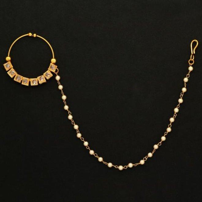 Nasenring mit Kette ohne Piercing  (Gold)