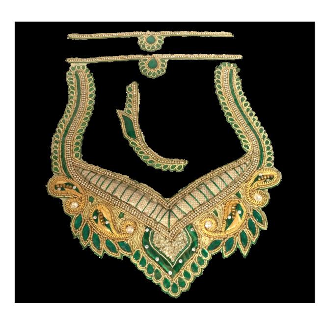 Indische Ausschnitt-/Kragen-Applikation
