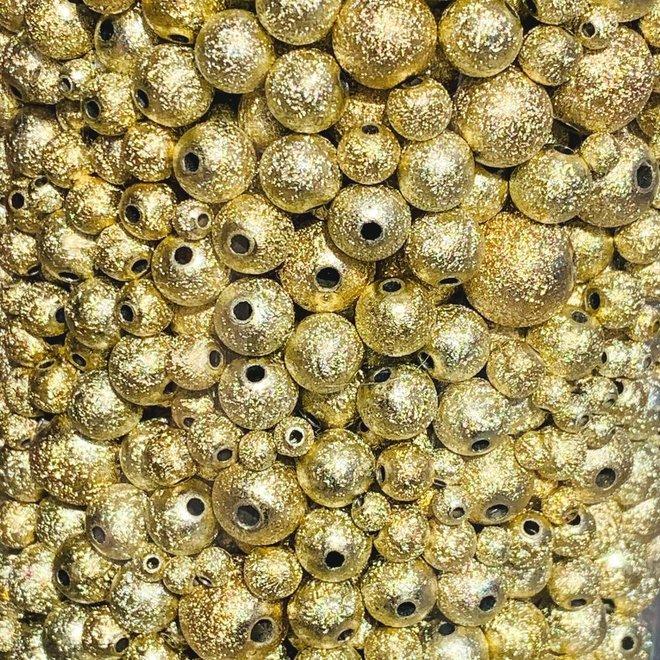 Acrylperlen gold gemischt
