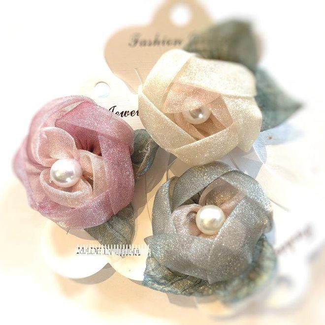 Blüten aus Organza