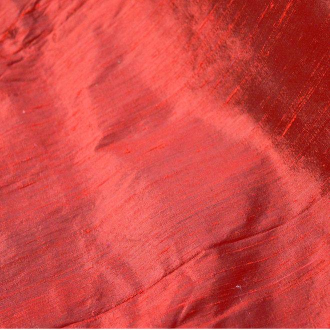 Dupion-Seide in Rot