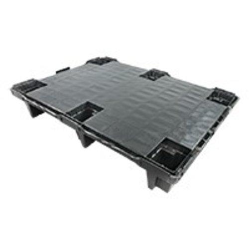 Kunststof display pallet 800x600x130mm, gesloten dek