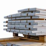 Palletrand 800x600x200mm, 4 scharnieren, gebruikt