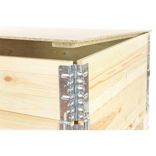Deksel voor palletrand 1200x800x10mm, spaanplaat