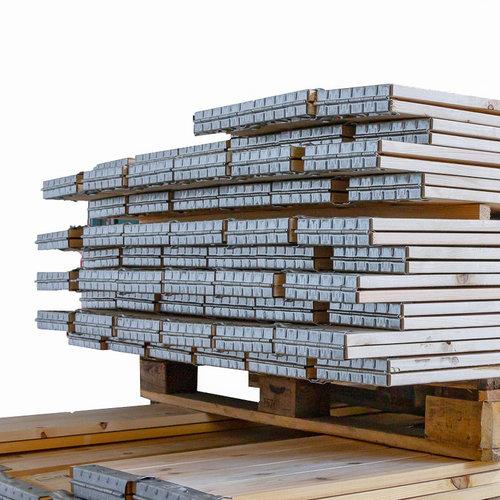 Palletrand 1200x800x200mm, 4 scharnieren, gebruikt