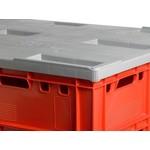 Kunststof oplegdeksel 1210x1010mm, grijs
