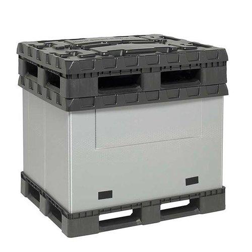 Vouwbare kunststof palletbox 1227x1027x965mm