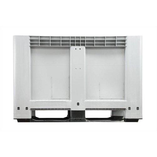 Kunststof palletbox 1200x800x800mm, 2 sledes, gesloten