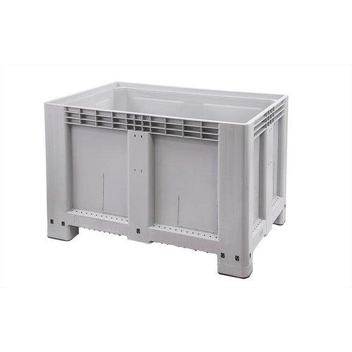 Kunststof palletbox 1200x800x800mm, 4 poten, gesloten
