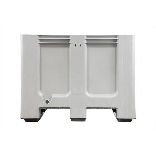 Kunststof palletbox 1200x1000x760mm, 3 sledes, gesloten