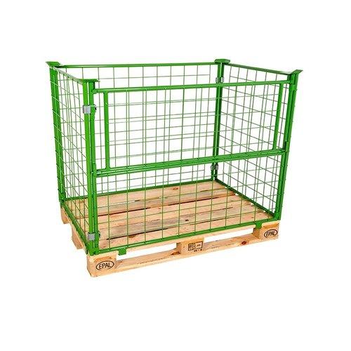 Opzetrand 1200x800x1000mm, metaal groen gelakt, inklapbaar