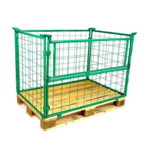 Opzetrand 1200x800x1200mm, metaal groen gelakt, inklapbaar