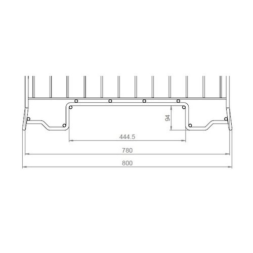 Inklapbare draadcontainer 800x600x700mm, verzinkt