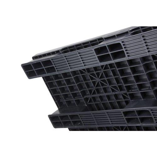 Kunststof pallet 1200x1000x150mm, gesloten bovendek