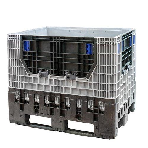 Inklapbare palletbox 1200x800x975mm, gebruikt