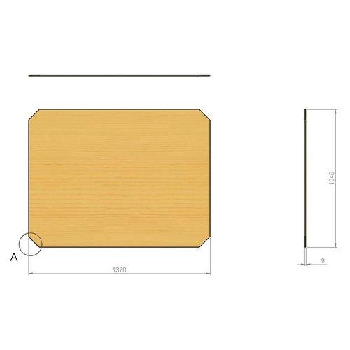 Multiplex plaat 1370x1005x9mm, voor enkel mobiel stapelrek