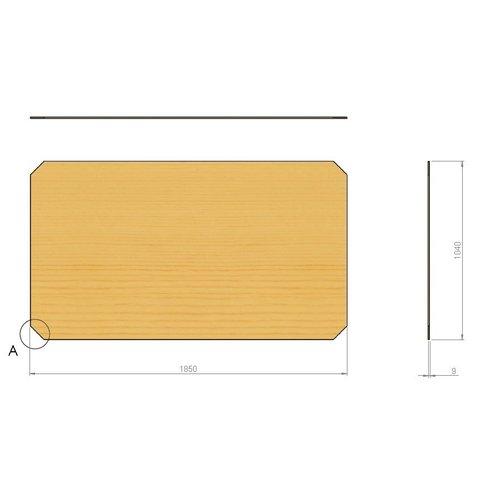Multiplex plaat 1850x1005x9mm, voor dubbel mobiel stapelrek