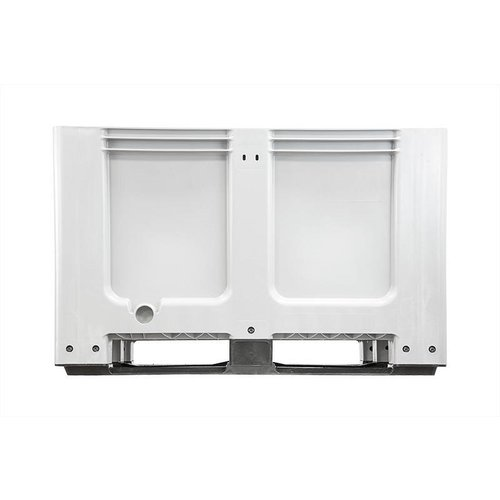 Gebruikte kunststof palletbox 1200x1000x760mm, 3 sledes, gesloten