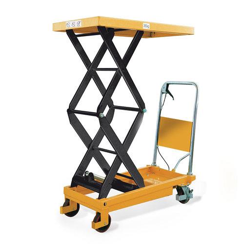 Schaarheftafel 910x500mm, 350 kg, rijdbaar