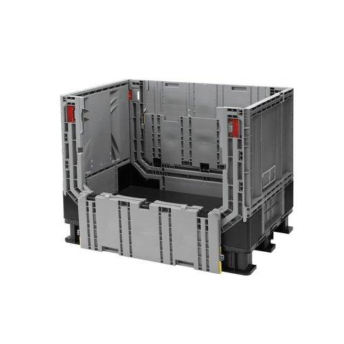 Palletbox 1211x811x902mm, 590 liter kunststof, inklapbaar in delen