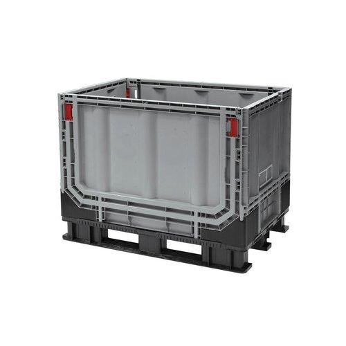Palletbox 1211x1011x903mm, 750 liter kunststof, inklapbaar
