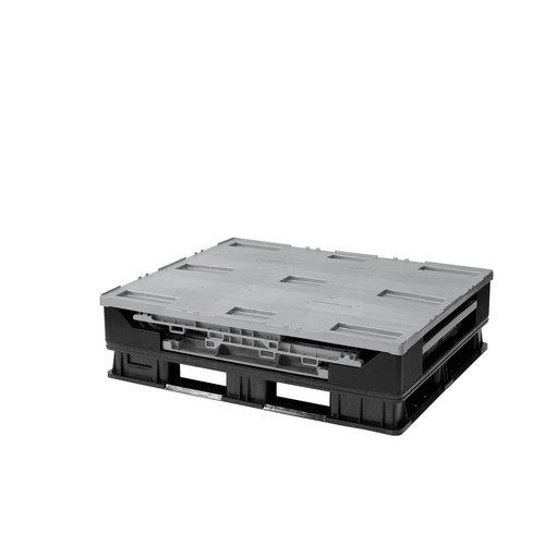 Palletbox 1211x1011x903mm, 750 liter kunststof, inklapbaar  in delenPalletbox 1211x1011x903mm, 750 liter kunststof, inklapbaar in delen