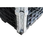 Palletrand 1200x1000x200mm, kunststof 4 scharnieren