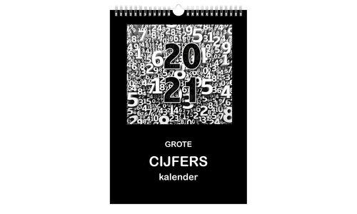 Kalender grote cijfers