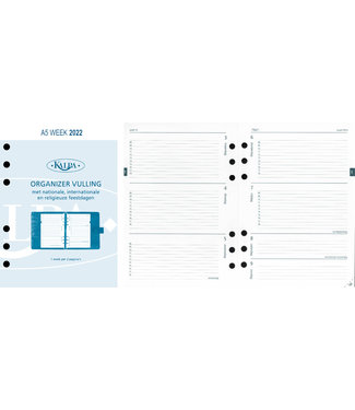Kalpa organiser vullingen pakket (26 stuks) bestaande uit:  3 x 411-6207 (Calendarium A5 week),  5 x 411-6217 (Calendarium standaard week), 5 x 411-6227 (Calendarium senior week), 10 x 411-6237 (Calendarium junior week),  3 x 411-6247 (Calendarium mini we