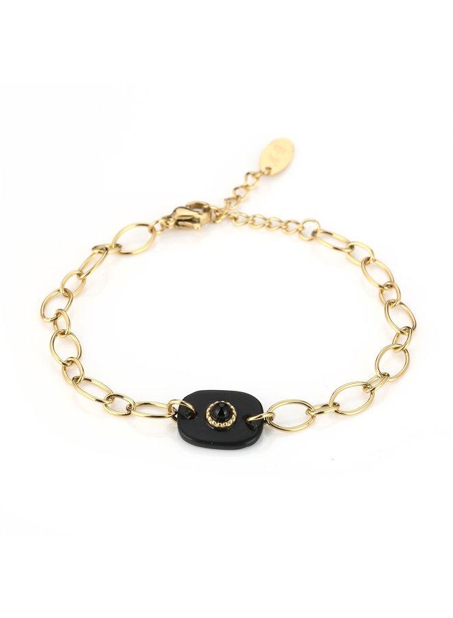 IBIZA-Armband : Black/Gold