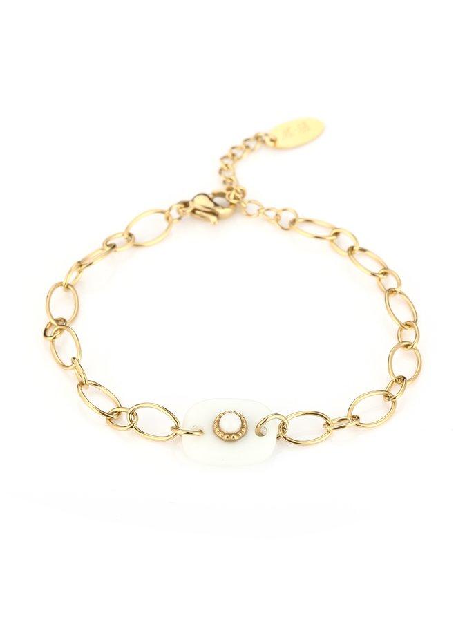 IBIZA-Armband : White/Gold